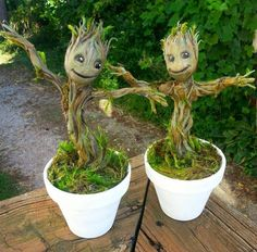 Groot Sculptures I Made is part of Baby groot Post with 121 votes and 248541 views Tagged with , , Creativity, ; Shared by Groot Sculptures I Made - Garden Crafts, Garden Art, Flower Pots, Flowers, Baby Groot, Cactus Y Suculentas, Guardians Of The Galaxy, Air Plants, Trees To Plant