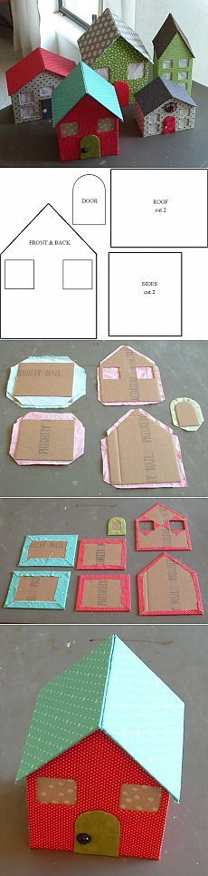 ~~ You could cross stitch little things in each window using fabric for the outside or stitch each shape for an all over stitching project ~~