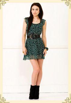 #Teen #Dress #Dotted #ShortDress #Necklace