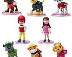Paw Patrol Figures CAKE TOPPER by SuperMommyShop on Etsy