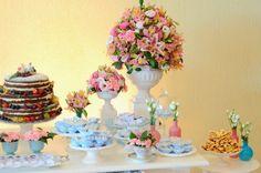 Arranjo de flor cor de rosa para festa! Wedding inspiration