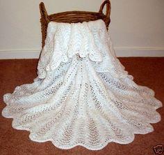 Beautful Hand Knitted Baby Shawl Blanket Circular