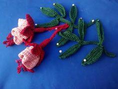 Irish Crochet Lace, Fuchsias - YouTube