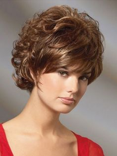 Short Curly Classic Cut Synthetic Hair Wig, Synthetic Hair Blonde Wigs | P4