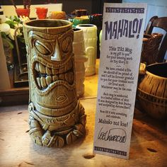 "danielarriaga: "" A gift given to everyone who worked on #toystory 3 from director Lee Unkrich. #pixar #tiki #buzzlightyear "" This is such an amazing mug!"