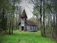 Abandoned church Built in1907. Lincoln County, WI