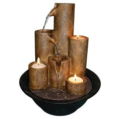 Candle Tabletop Fountain                                                       …