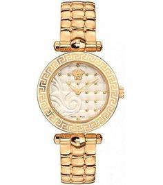 Versace Women's Vanitas Analog Display Swiss Quartz Gold Watch for sale online Versace Jewelry, Gold Diamond Watches, Rolex Date, Watch Sale, Watch Brands, Stainless Steel Bracelet, Fashion Watches, Gold Watch, Vanitas