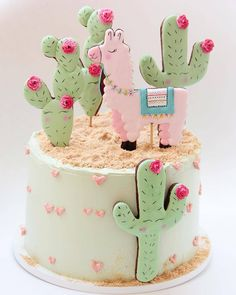 Baby first birthday, birthday, fiesta party, girl cakes, budget baby s Baby Shower Cakes, Baby Shower Kuchen, Gateau Baby Shower, Shower Baby, Llama Birthday, Birthday Cake Girls, Birthday Parties, Birthday Cookies, 10th Birthday