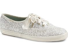 Keds x kate spade new york Champion Glitter, Cream Glitter, dynamic Kate Spade Glitter Keds, Kate Spade Keds, Glitter Shoes, Sparkly Shoes, Purple Glitter, Kate Wedding Dress, Kate Spade Wedding Shoes, Wedding Attire, Wedding Dresses