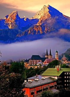 Berchtesgaden in Germany is in the German-Bavarian Alps, near the border with Austria. The Berchtesgaden National park stretches along three parallel valleys to the south of the city. Berchtesgaden is associated with the Watzmann, the third highest mountain in Germany.
