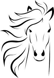 Znalezione obrazy dla zapytania line art horse