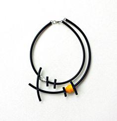 Silver statement necklace  Bib necklace  Popular by PevalekArt