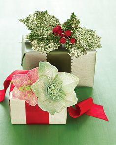 Make your gifts even more special by crowning packages with a stunning glittered gift topper.