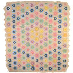 Grandmother's Flower Garden Quilt | 1stdibs.com