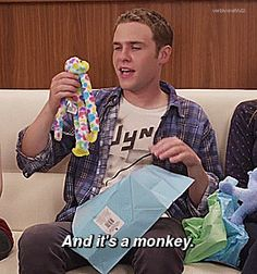 And it's a monkey. || Iain De Caestecker || Interview || 270px × 289px || #animated #cast