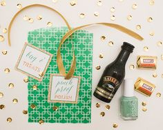 St Patrick's Day Glitter Glitz Tags and Gift Bag DIY!