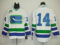 Vancouver CANUCKS 14 Alex BURROWS Third 40th White Jersey. NHL Hockey  Jerseys 3bf5cb532