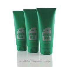 LR Jungle Man Parfümiertes Haar- und Körper-Shampoo 3 x 200 ml NEU & OVP!