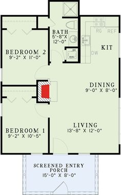 2 Bed Rustic Getaway Home Plan   60678ND | 1st Floor Master Suite, CAD  Available