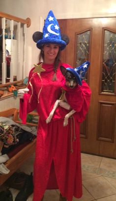 Sorcerer Mickey costume with puppy