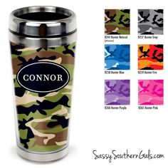 Monogrammed Travel Tumbler, Personalized Coffee Tumbler on www.SassySouthernGals.com Cano Pattern