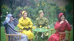 1950's style Vintage Ads, Vintage Photos, Mackintosh Raincoat, Rain Hat, Rubber Raincoats, Pvc Raincoat, Raincoats For Women, Rainy Days, 1950s
