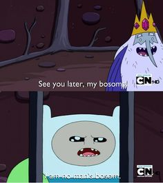 I just read that last quote in Finn's voice & laughed for a minute.