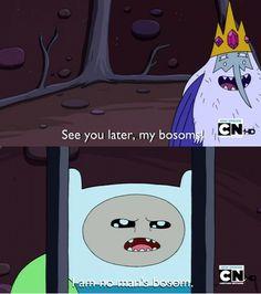 Hahaha, Ice King and Finn; Adventure Time