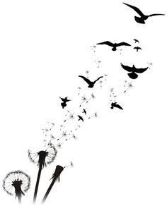 dandelion to birds tattoo design - Google Search