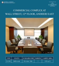 Built to suit office spaces available for Pre-lease/ sale at Wall Street, Andheri East  Carpet Area - 1103 sq.ft.  Car Parking - 1  For further details kindly contact:- Mr. Hiren Dave - +91 99875 80291 Mr. Vijay Kandhari - +91 98203 03062  #BKandhariProperties #RealEstate #Property #Office #OfficeSpace #WallStreet #Andheri #Mumbai Property Sale, Commercial Complex, Space Available, Office Spaces, Wall Street, Car Parking, Mumbai, Carpet, Real Estate