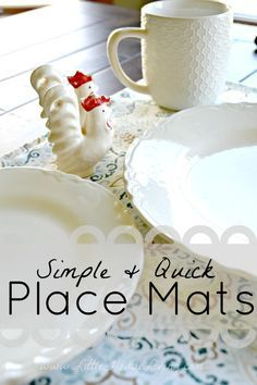 How to Sew Placemats Quickly and Simply. Make pretty new placemats for your table!