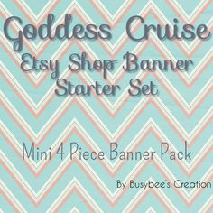 Etsy Shop Banner Pack Mini 4 Piece Etsy by BusybeesCreation, $6.95