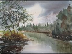 Watercolour tutorial painted from a photograph I took along the River Cole in Stechford. http://stores.ebay.co.uk/original-paintings-by-steven-cronin - Buy t...