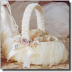 The Victorian Collection Flower Girl Basket (Style15)