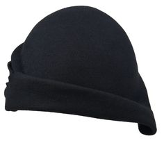 BLACK FURFELT W1607- CLOCHE