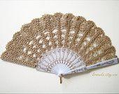 Lace wedding hand fan in GOLD, luxury gold accessory, wedding bouquet alternative, bridal accessory, bridesmaid,spanish wedding