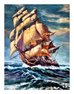 Best Ideas For Bird Flying Painting Easy Bateau Pirate, Old Sailing Ships, Sea Of Thieves, Pirate Art, Ship Drawing, Ship Paintings, Wooden Ship, Ship Art, Tall Ships