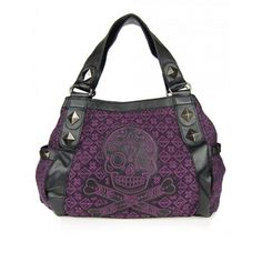 Loungefly Purple Tweed Skull Handbag