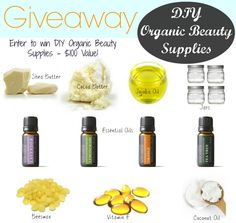 DIY Organic Beauty Supplies Giveaway - Over $100 Value!