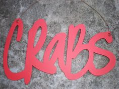 CRABS Metal Sign Beach Tropical Seaside Seafood Crab Shack Nautical Home Decor