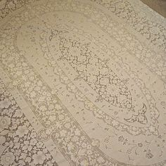 Large Vintage Oval Quaker Lace Ivory Cotton by MissIvyVintage, $49.99