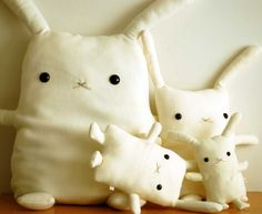 Handmade #Rabbits by FlatBonnie on Etsy, great for any age group #Easter #present