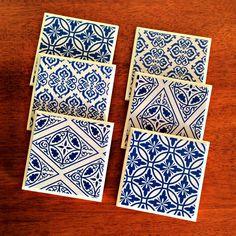 6 x Ceramic Tile Drink Coasters Cobalt Blue & White Geometric Circles Diamonds - by StudioAstratta on madeit Front Verandah, Geometric Circle, Drink Coasters, Cobalt Blue, Zentangle, Circles, Tile, Diamonds, Blue And White