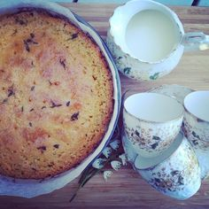 """Time for tea. Nigel Slater's Lemon and Thyme Cake #lemonandthymecake #letshavelunch"""