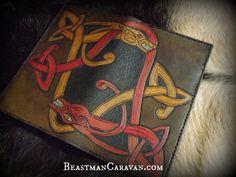 Viking / Celtic Double Dragon   Leather Journal by BeastmanCaravan