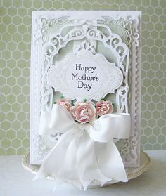 Happy Mothers Day by havonfamily - Cards and Paper Crafts at Splitcoaststampers Spellbinders Cards, Beautiful Handmade Cards, Fathers Day Cards, Marianne Design, Flower Cards, Creative Cards, Cute Cards, Anniversary Cards, Vintage Cards