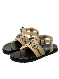 Chic studded thong sandal Gladiator Sandals 68bb5bb19a