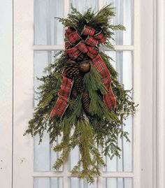Christmas Door Swag - love this - so easy to do!