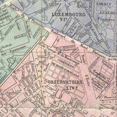 Map of Paris 1864   Old Maps of Paris